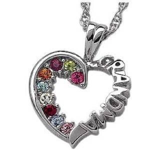 amazoncom sterling silver grandma birthstone necklace