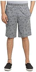 Broche Men's Cotton Shorts (Broche9002-M, Grey, Medium)