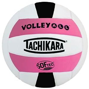 Buy Tachikara Volley-All Indoor Outdoor Volleyball, Pink White Black by Tachikara