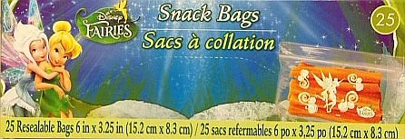 Fairies Personalizable Snack Bags - Resealable 25 Bags - 1