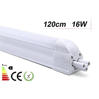 2 x auralum 16w 120cm smd 2835 t5 wei led r hre leuchtstoffr hre leuchtmittel mit fassung. Black Bedroom Furniture Sets. Home Design Ideas