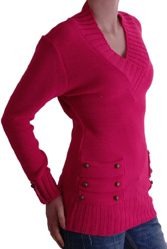 EyeCatchClothing - Nebraska Womens V Neck Knitted Pullover Jumper One Size