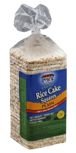 Paskesz Rice Cake Thin Square Plain, 4.9-Ounce Packages (Pack of 12) (Rice Squares compare prices)