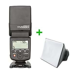 Yongnuo YN-568EX Déclencheur photo/flash avec HHS jusqu'à 1/8000s pour appareil photo Canon EOS TTL Canon EOS 7D 5D Mark II III 60D 650D Canon EOS 600D 50D 550D 40D