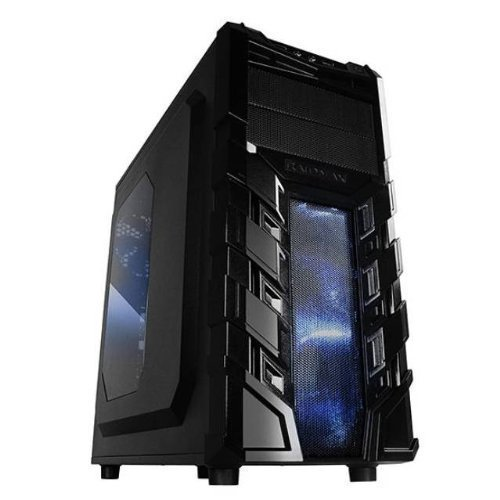 Jurassic FX43 BRONZE- Black V3 Case AMD FX4300 3.8GHZ, 8GB RAM, 1TB HDD, 24X DVD, Integrated Graphics, and Windows 10 Home