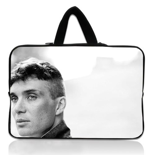 Custom Laptop Handbag with Cillian Murphy Actor Face Eyes Bw Patterns Waterproof Canvas Fabric 10 10.1 Inch Laptop Bag Case Cover(Twin Sides)