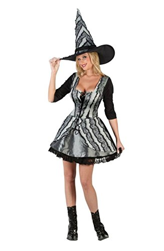 Funworld Womens Sexy Goth Rose Witch Theme Party Halloween Fancy Costume