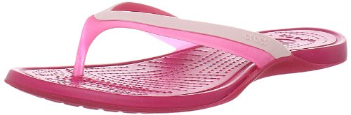 Crocs Women's Adrina Hot Pink/Raspberry Flip Flops 11204-65N-413 3 UK