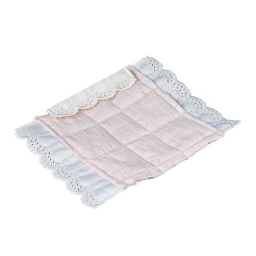 Dollhouse Miniature Pink Silk Comforter Set