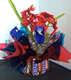 Candy Bouquet Edible Vase Fun Size - Snickers