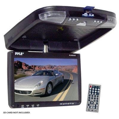 "PYLE PLRD92 9"" Flip Down Monitor and DVD player with Wireless FM Modulator/ IR Transmitter"