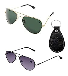 Abloom Combo of 2 Sunglasses Free With Key Holder(combo)