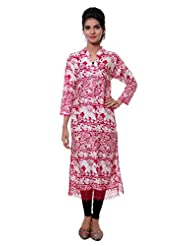 TeeMoods Womens Long Printed Kurti With Long Sleeves - B00VG8W8HS