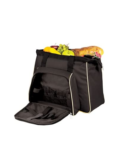 Picnic Time Toluca Insulated Picnic Cooler Tote, Black