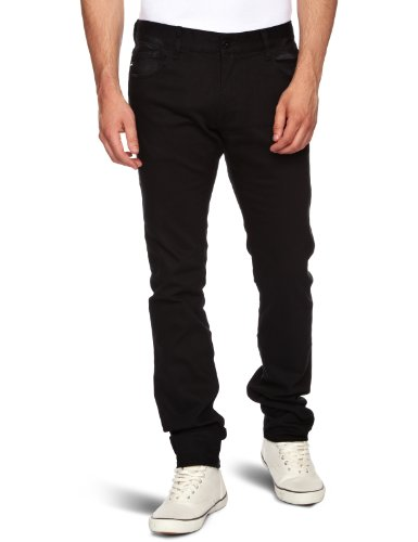 Quiksilver Distortion Over Black  Slim Men's Trousers Over Black X-Small L