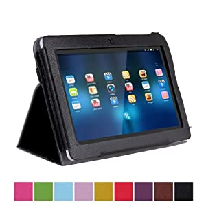 "Crazycity Slim 7 inch tablet Folio PU leather Protective Case with Stand for 7"" Afunta Q88, AGPtek, Alldaymall Q88, Axis, Chromo, Dragon Touch A13 Q88,Y88, FastTouch, Fortress, Kocaso M752WH/M752SL/M752WH/M752BL 7-Inch 4 GB Tablet, Kocaso M752 7"" Android"