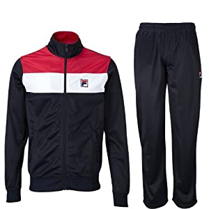 Fila Zorila Mens F Box Retro 80's Full Zip Tracksuit - Navy/Whte/Red - Medium