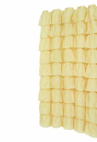 Gold Carmen Ruffled Bouffant Fabric Shower Curtain
