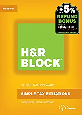 H&R Block Tax Software Basic 2016 Win + Refund Bonus Offer