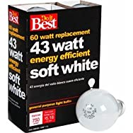 GE Private Label90858Do it Halogen Bulb-43W 4PK SOFT WHITE BULB