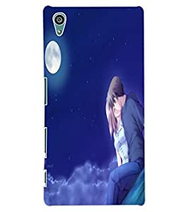 ColourCraft Loving Couple Design Back Case Cover for SONY XPERIA Z5