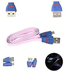 FUSON PREMIUM LIGHTING MICRO USB DATA TRANSFER AND CHARGING DATA CABLE FOR PANASONIC T9 - PINK