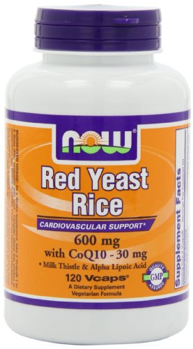 NOW Foods Red Yeast Rice & Coq10, 120 Vcaps (Red Yeast Rice compare prices)