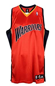 Golden State Warriors NBA Authentic Blank Team Jersey, Orange by adidas
