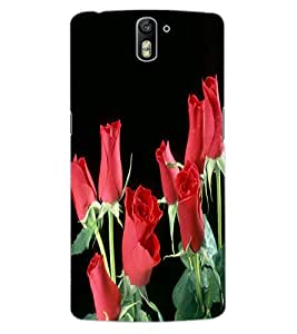 ColourCraft Love Roses Design Back Case Cover for OnePlus One