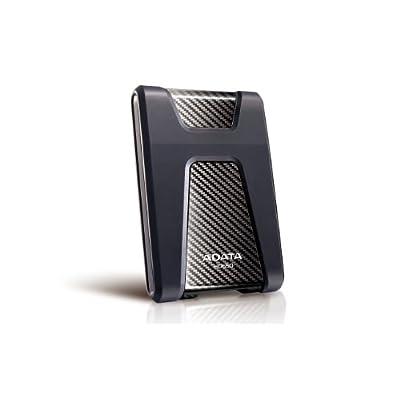 ADATA USA DashDriv Durable HD650 1TB Anti-Shock Portable External Hard Drive - Black (AHD650-1TU3-CBK)