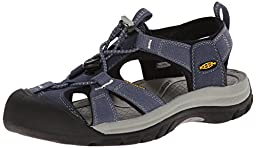 KEEN Women\'s Venice H2 Sandal, Midnight Navy/Neutral Gray, 8 M US