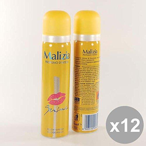 Set 12 MALIZIA Deodorante Donna Spray 75 Sensual Deodoranti per il corpo