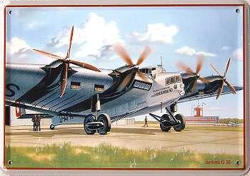 Junkers Hindenburg G 38 Blechpostkarte