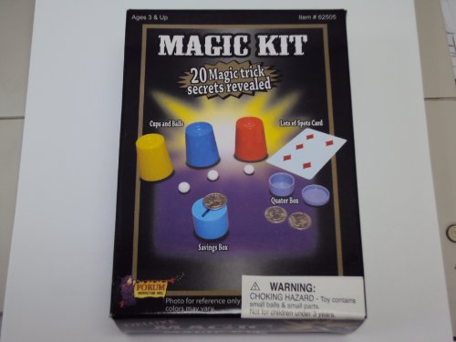 Forum Novelties 62505 Deluxe Magic Kit - 20 Magic Trick Secrets Revealed - 1
