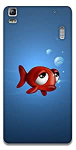 The Racoon Lean printed designer hard back mobile phone case cover for Lenovo A7000. (fish with)