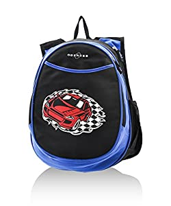 Obersee Kid's All-in-One Pre-School Backpacks with Integrated Cooler, Race Car