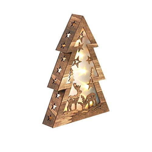 Christmaxx-LED-Holzdeko-Tannenbaum-Winterwald-3V-Wunderbar-festlich-mit-faszinierendem-Hologramm-Effekt
