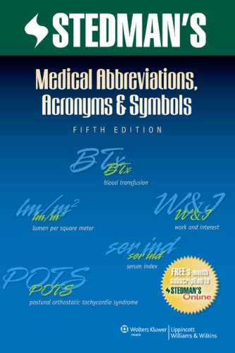 Stedman's Medical Abbreviations, Acronyms & Symbols (Stedman's Abbreviations, Acronyms & Symbols)