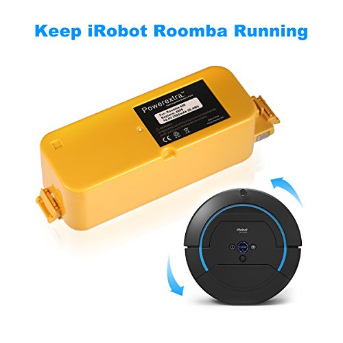 powerextra 14 4v 3500mah higher capacity replacement battery for irobot roomba 400 series roomba. Black Bedroom Furniture Sets. Home Design Ideas