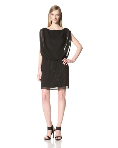 Jessica Simpson Women's Sleeveless Dress with Embellished Shirt  - Black