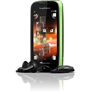 Sony Ericsson Mix Walkman WT13i Unlocked Phone - US Warranty (Black/Green)