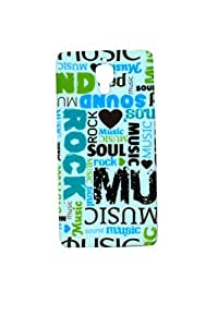 ZAZZLE Premium High Quality Rubberized Protective Printed Case Cover for Xiaomi Mi4 In love With Music
