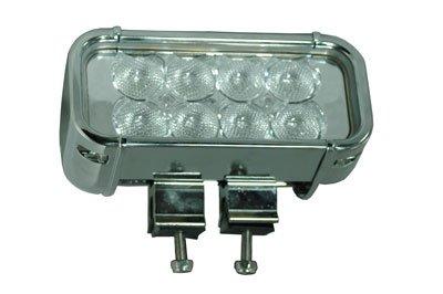 Larsonelectronics Led Light Bar - Chrome Housing - 8 Leds - 24 Watts - 325'L X 70'W Beam - 1440 Lumen - 9-42Vdc
