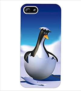 ColourCraft Funny Cartoon Design Back Case Cover for APPLE IPHONE 5