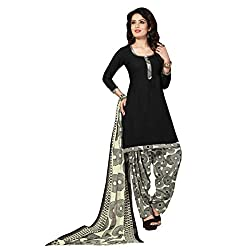Aagaman Fashion Polyester Unstitched Salwar Suit (TSLCSK5060_Black)