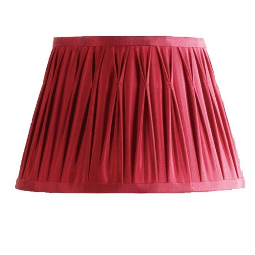 Buy laura ashley sfp316 classic 16 in wide pinch pleat lamp shade wide pinch pleat lamp shade red faux mozeypictures Gallery