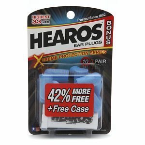 Hearos Xtreme Protection Series Ear Plugs, 10 Pair with Free Case