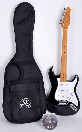 Hawk Mn 3/4 Bk 3/4 Size Short Scale Guitar W/Free Carry Bag And Instructional Dvd