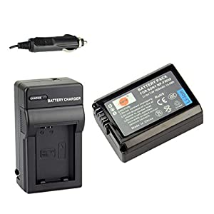 DSTE NP-FW50 Rechargeable Li-ion Battery + Charger DC107 for Sony Alpha NEX-3, NEX-3N, NEX-5, NEX-5R, NEX-5N, NEX-6, NEX-7, NEX-C3, NEX-F3, SLT-A33, SLT-A35, SLT-A37, SLT-A55V
