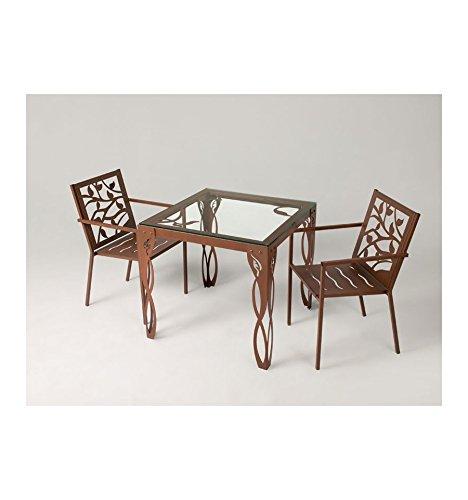 Mesa de jardín Estepona - Grupo 2 - Blanco plata (color con incremento de precio), Mesa con medidas de 180x85x76 cm. de alto.